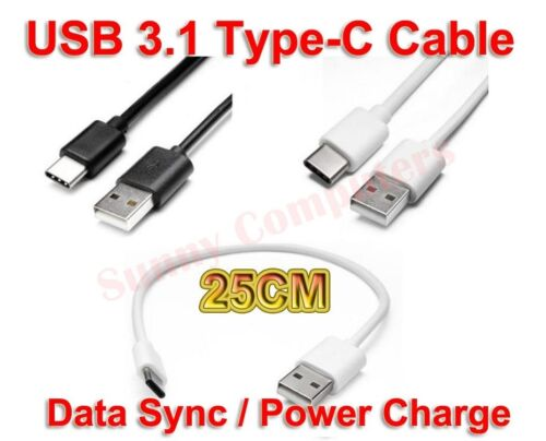 25cm USB 3.1 Type-C Power Supply Charge Cable Data Cord For LG K30 Q7 G7 ThinQ