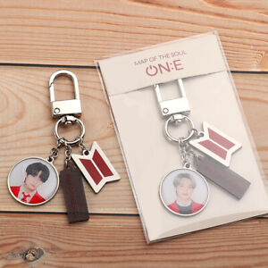 New BTS Bangtan Boys Key chain Set Pendant  Accessories Music Memorabilia