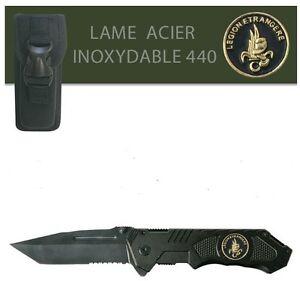 Couteau-Survival-en-acier-440-LEGION-ETRANGERE-etui-Housse-de-protection