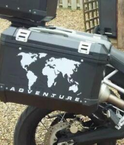 A pair r1200gs adventure world map pannier stickers decals graphics la imagen se est cargando un par r1200gs adventure mapamundi alforja pegatinas calcomanias gumiabroncs Image collections