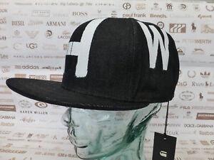 947b2f9392550 G-STAR RAW Flat Brim Cap WOFES Snapback Black Hat Baseball Style O/S ...
