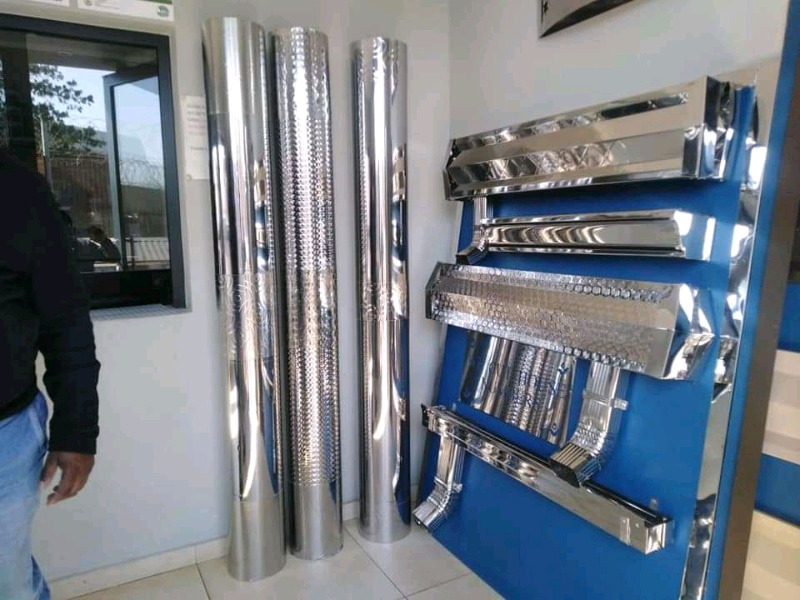 Alvin Stainless steel gutters and pillar covers and fascia boards