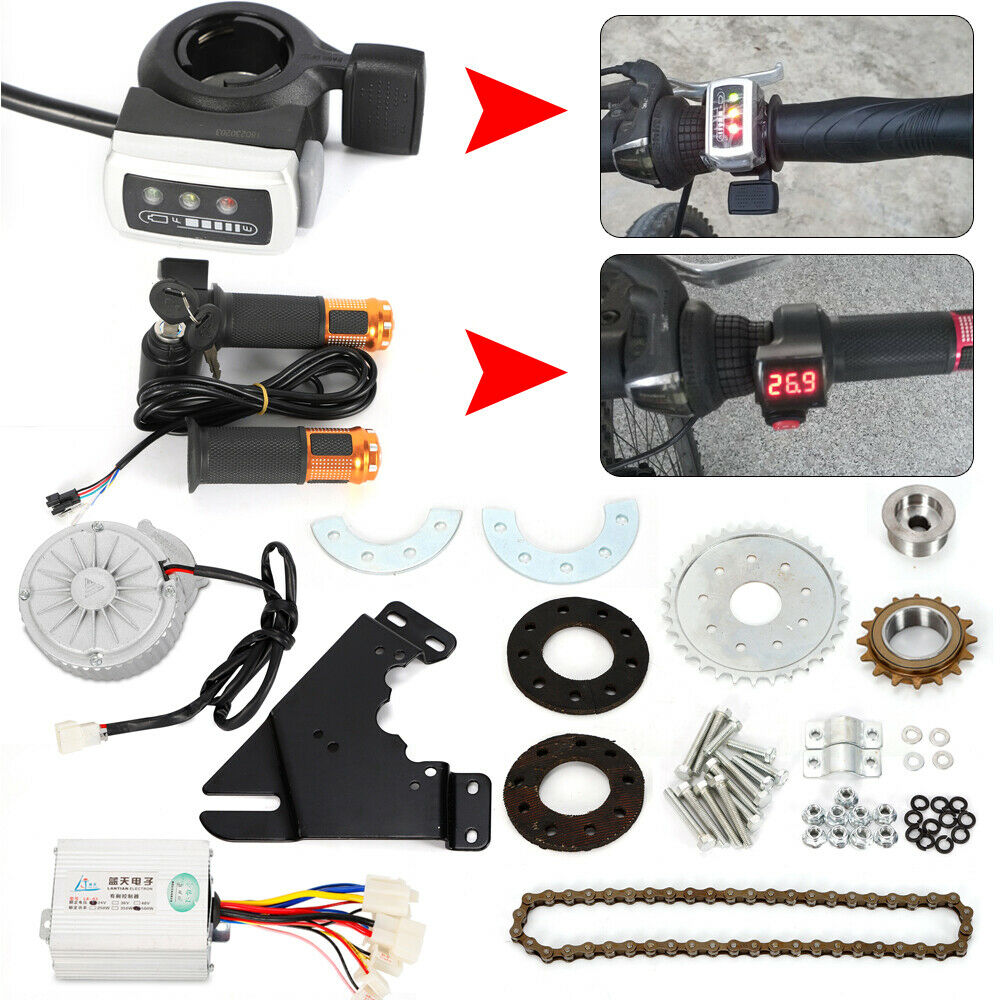 Electric Freewheel  Brush Motor Bicycle Conversion Kit E-Bike Cycling Thumb Kit  more affordable