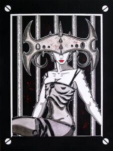 Details About Gothic Fetish Woman In Cell Block Comic Fantasy Art 8x10