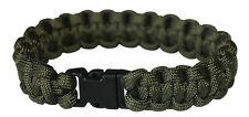 NEU Army Paracord Bracelet Survival Armband Outdoor Camping oliv Klip