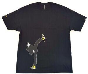 Vintage-Triumvir-Bruce-Lee-Jordan-I-1-Retro-Tee-Black-Size-XL-Mens-T-Shirt-2007