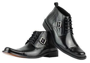 in italiano con vera pelle alla Scarpe da uomo stile caviglia cinturino qxYvva6wH