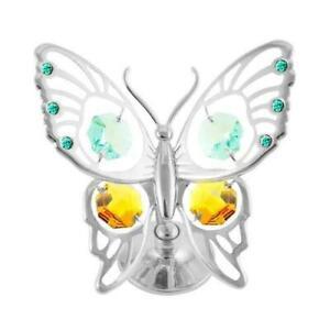 Crystocraft Tiger Schmetterling Freistehend Hergestellt mit Swarovski Elementen