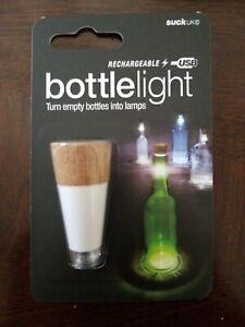 Suck Uk Bottle Light Usb Led Lights Rechargable Diy Wine Bottles Mood Lamps 5060043064280 Ebay