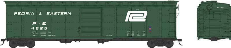 Bowser PEORIA & EASTERN (PC) (PC) (PC) 50' Single Door Box Car Set (3 cars   3  's) NIB 2b2f9e