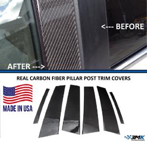 Fits Honda Accord 2DR 2003-2007 Real Carbon Fiber Black Window Pillar Posts 2PCS