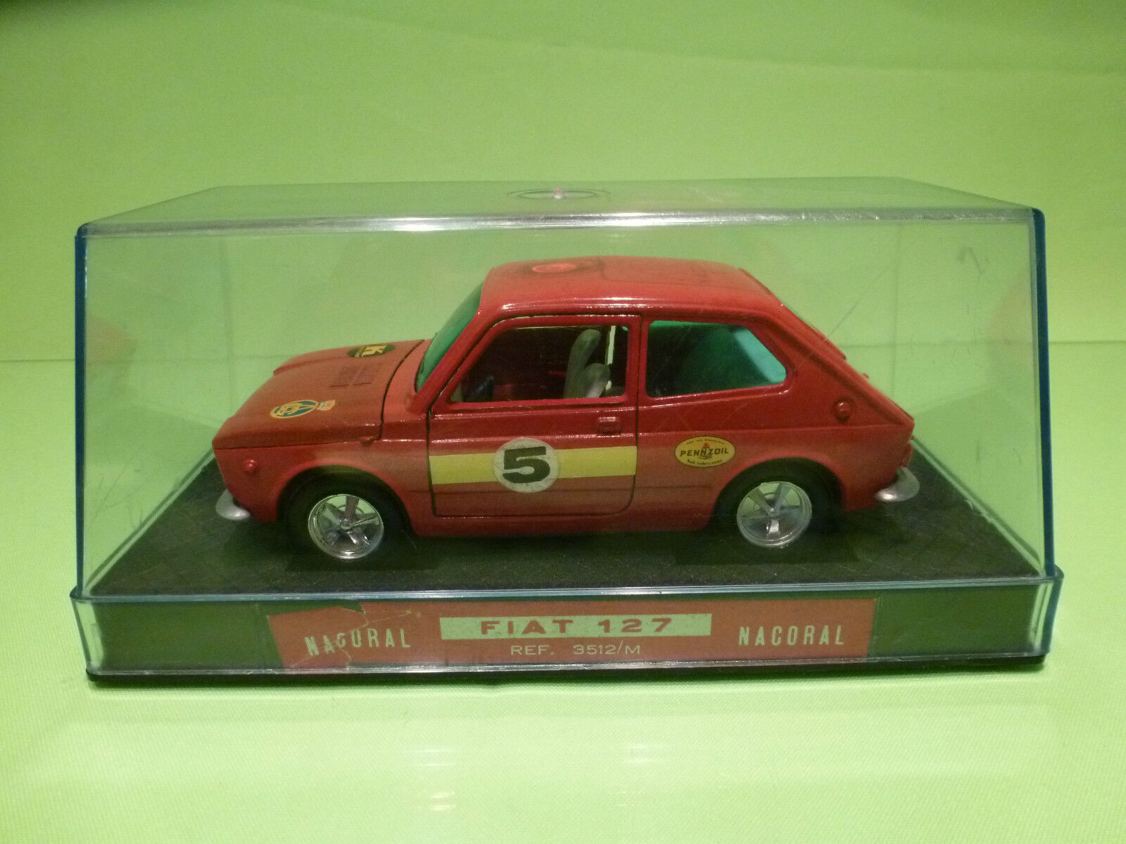 NACORAL 3512 M FIAT 127 RALLY - rosso  1 25 - NM IN SHOW CASE