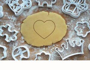 Mini Ausstechform Set Herz Ausstecher Stempel Marzipan Fondant Backen Keks