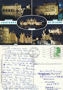 1989-MULTI-VIEWS-OF-CHATEAUX-OF-THE-LOIRE-FRANCE-COLOUR-POSTCARD