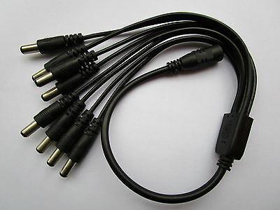 1 pcs 2.1mm 8 Channel DC Power Spliter 1 Female to 8 Male for CCTV Camera 40cm