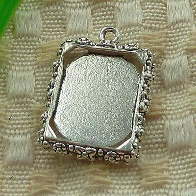 free ship 120 pcs tibetan silver frame charms 25x19mm #3846