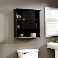 Bathroom Wall Cabinet Over The Toilet Storage Bath Organizer Rack Cherry Finish