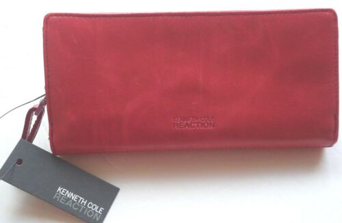 Kenneth Cole New York Leather Checkbook Wallet,Padded Glaze MSRP $68