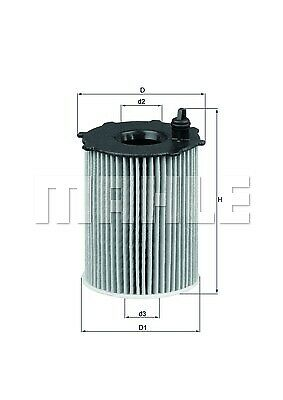 Mahle OX171//2D Oil Filter
