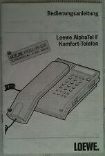 LOEWE AlphaTel F Bedienungsanleitung siehe Abb.