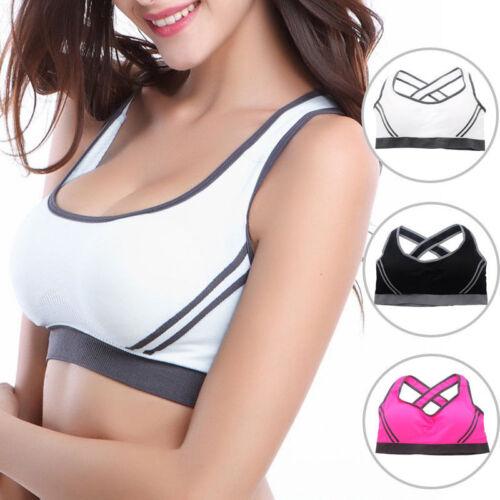 Damen Sport BH ohne Bügel Bustier Bra Push up Fitness Yoga Unterwäsche Top Weste