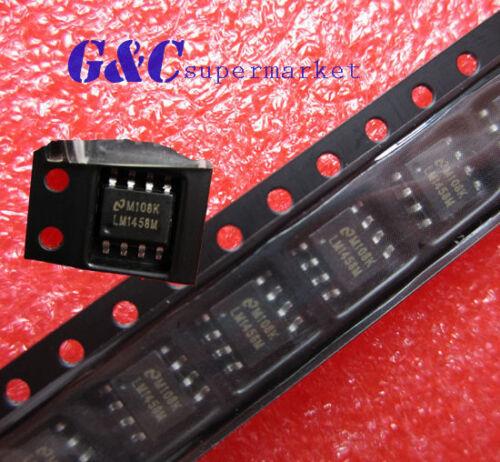 100PCS LM1458M IC OP AMP DUAL 8-SOIC NEW GOOD QUALITY R1