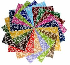 """75 4 inch Quilting Fabric Squares Beautiful """"Royalty""""Swirls Tonals BUY IT NOW!4"""""""