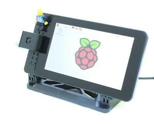 Case-for-the-RaspberryPi-official-display-adjustable-angle-and-HAT-compatible