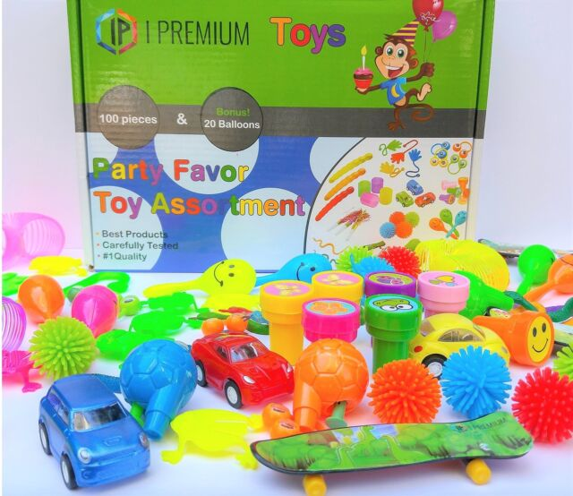 I Premium Toy Assortment In Big 120 Pack Party Favors For Kids. Fun Birthday ...