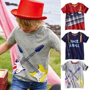 Enfants-Bebe-Garcons-Vetements-a-manches-courtes-Cartoon-Tops-T-shirt-Casual-Blouses