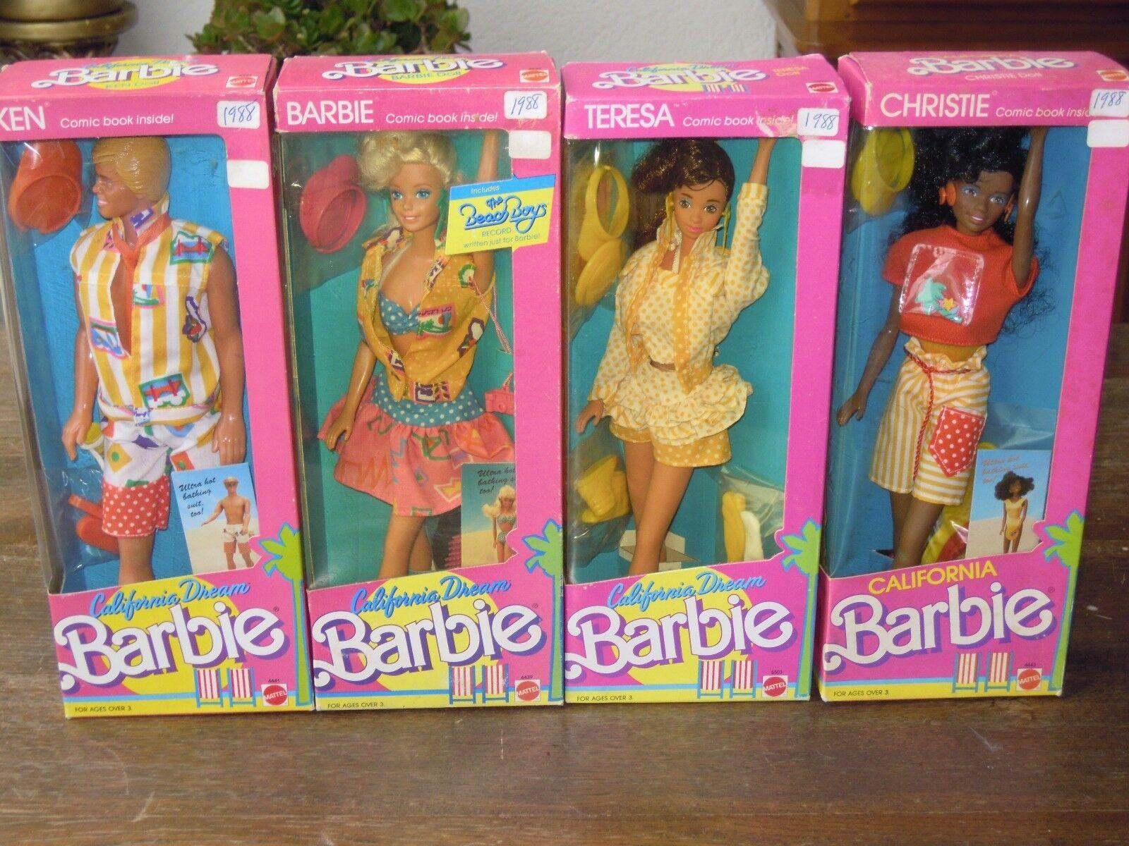 1987 BARBIE CALIFORNIA DREAM A CHOISIR   KEN BARBIE TERESA OU CHRISTIE
