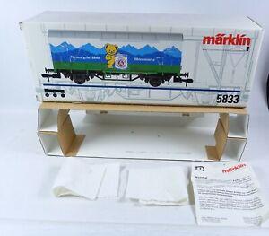 Märklin LEERKARTON 5833 Güterwagen Milch Wagen Leerverpackung OVP Box Spur 1