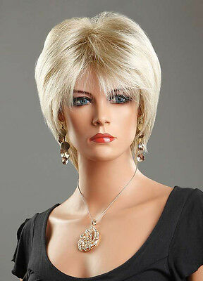 Ladies Short Wig Blonde Black Brown Wig Bob Curly Wedge Fashion Wigs UK