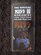 OFFICIAL KISS UNUSED WORLDWIDE 1996-1997 PRE-PAID PHONE CARD