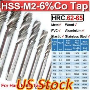 HSS Metric Taper /&Plug Tap Set M3 to M20 Right Hand Thread Cutter Taps For Metal