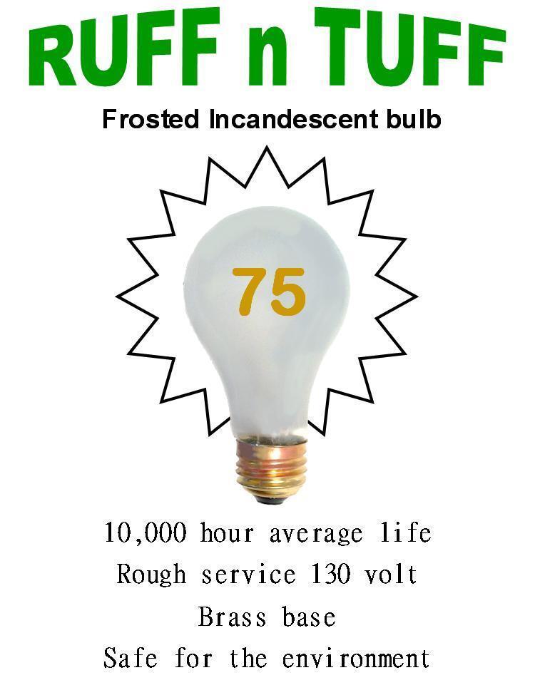 Servicio De 75 vatios Esmerilado áspero, hora 10k, las bombillas incandescentes (24)