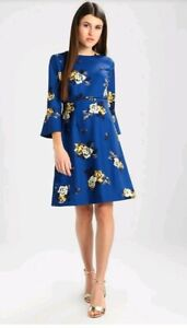 Rose Us Stunning Tea Rrp London 149 Blue Party Bnwt Dress £ 8 Hobbs 12 Uk qqFtR