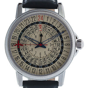 768bc313ec9 Travelers Pilots 24-hour GMT watch with 24 time zones and IATA ...