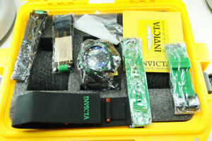 Invicta Mens Subaqua 10049 Nitro Diver Chrono Black Dial Interchange Watch Strap