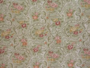 """Highland Court /""""Small Floral/"""" embroidered brocade fabric remnant various colors"""
