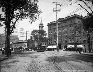 """Maine Vintage Photograph 8.5/"""" x 11/"""" Reprint 1904 Congress Square Portland"""
