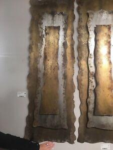 Jaymes 60 Farmhouse Wall Art Panel Layered 3 Dimensional Oxidized Metal 792977041277 Ebay
