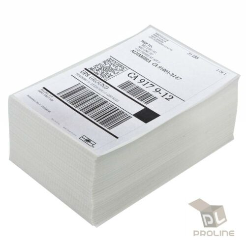 500 Label Per Stack 4x6 Fanfold Direct Thermal Labels for Zebra Rollo Printers