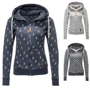 hot sale online e2728 0dc77 Details zu Hachiro Damen Sweat Jacke Hoodie Sweatjacke Sweatshirt  Kapuzenpullover NEU