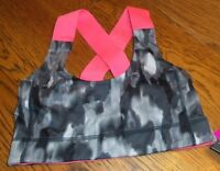 Small Black Gray White Hot Pink Mta Sport Sports Bra Medium Impact Brand