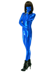 image is loading halloween costume adult women blue zentai sexy metallic