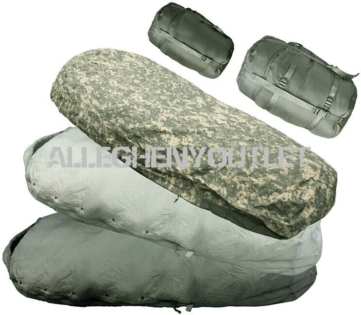 US Military ACU 5 Piece IMPROVED MODULAR SLEEPING BAG SLEEP SYSTEM IMSS EXC