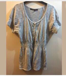 Women Plain cardigan Grey Short Sleeved Shrug jumper Size 6 BN George