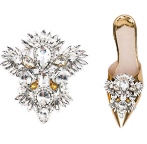 Maple leaves Crystal Beads Applique Patch Diamante Applique Dress Addition 1 Pce