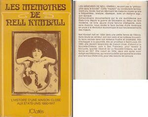 C1-USA-Les-MEMOIRES-DE-NELL-KIMBALL-1880-1917-Histoire-MAISON-CLOSE-Prostitution